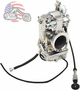 Mikuni HSR 42mm Polished HSR42 Carb Carburetor 1990-2006 Harley Evo Twin Cam 88