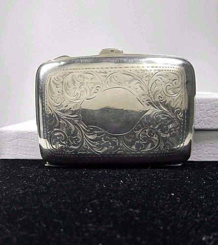 1923 Antique Birmingham Sterling Silver 925 BRITISH W. H. Haseler Cigarette Case