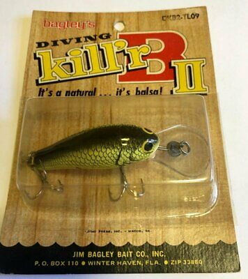 BAGLEY KILL/'R B2 SQUARE BILL FISHING LURES LOT OF 3 DIFFERENT COLORS NIPS NICE