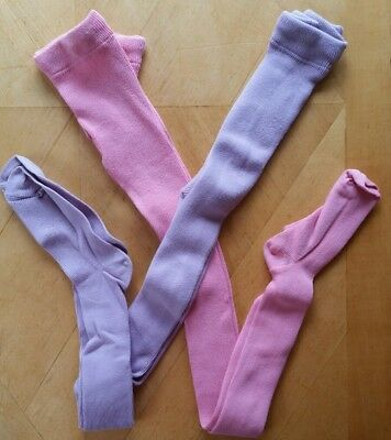 NWT HANNA ANDERSSON COTTON TIGHTS PINK and WILDFLOWER PURPLE 100 4, 140 10 ()