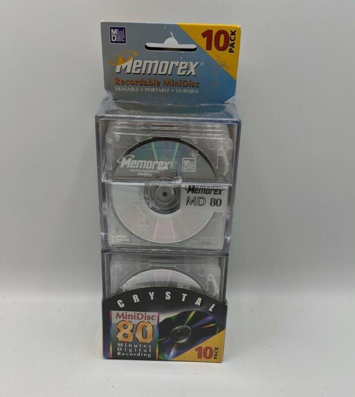 NEW 10 Pack Memorex Recordable Mini Disc 80 Min **SEALED**