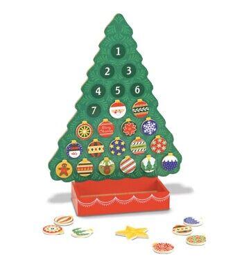 NWT Melissa & Doug Countdown to Christmas Wooden Seasonal Calendar