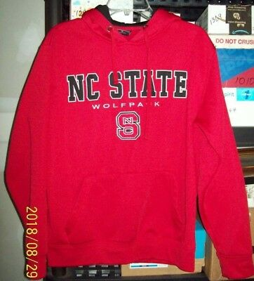 North Carolina State NC State Ladies Medium Hoodie Red Fleece NWOT (SH) ()