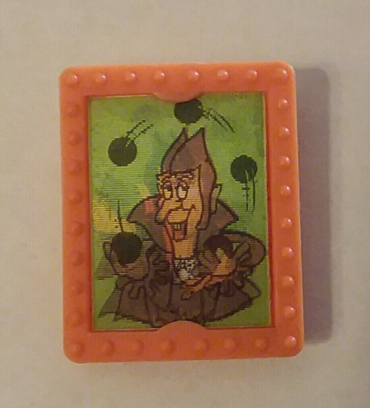 Count Chocula flicker ring lenticular cereal box prize 1972 orange