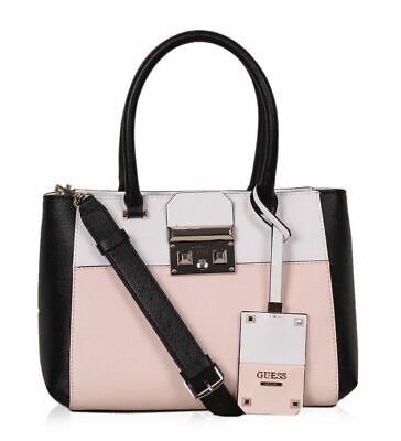 NEW GUESS ROSE MARTINE COLORBLOCK SATCHEL BAG HANDBAG PURSE