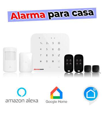Alarma para casa GSM + WiFi anti-inhibidores FHSS AZ043 Amazon Alexa Google...