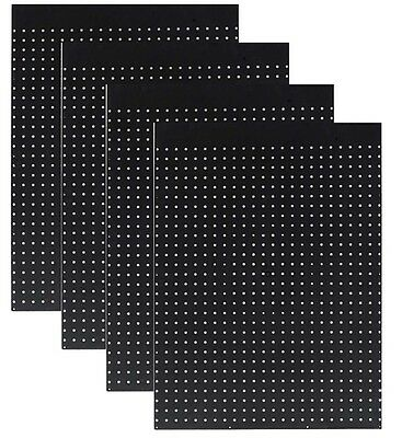 WallPeg Pegboard Panels - Tuff Poly Peg Board - Choice of Size,Color, 2 or 12 pk