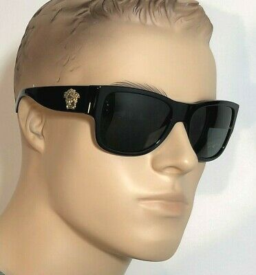 VERSACE MEDUSA DEEP WIDE SIDE Men Women Sunglasses BLACK GOLD GREY 4275 GB1 87