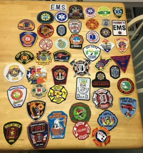 NICE LOT OF 50 FIRE RELATED  PATCHES  ML01