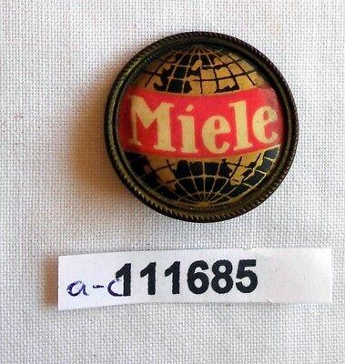 altes Blech Abzeichen Firmen Reklame Miele um 1930 (111685)