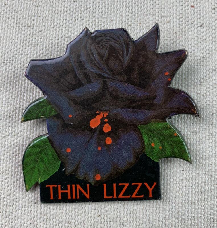 THIN LIZZY Black Rose LP Album PROMO PIN Button Badge  Heavy Cardboard Vintage