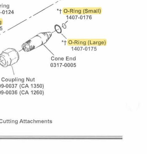 Victor CA1350 Replacement O-rings - 6 sets (1407-0176 & 1407-0175)
