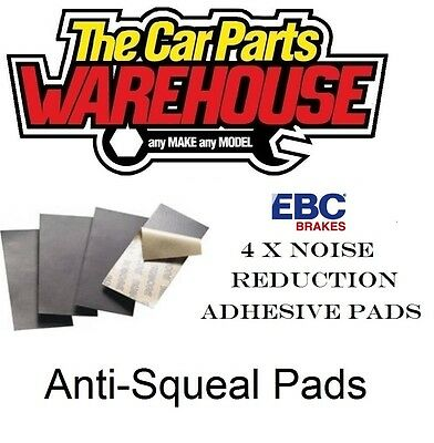 LARGE EBC ANTI SQUEAL SELF ADHESIVE BRAKE PAD SHIMS NOISE REDUCTION 152mm x 51mm