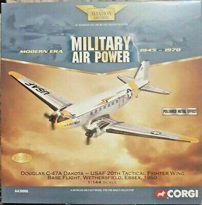 "CORGI DIECAST 1:144 SCALE AVIATION ARCHIVE "" DOUGLAS C-47A DAKOTA ""AA30006"