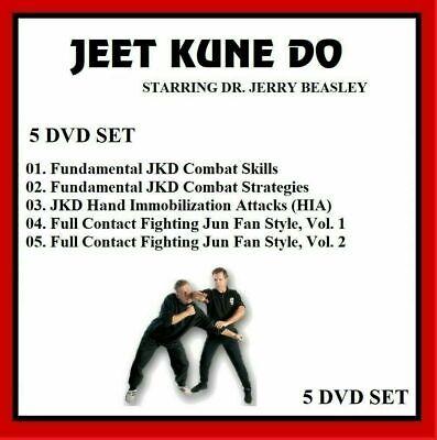 JEET KUNE DO 5 DVD set w Jerry Beasley Set jkd kung fu mma intructional training