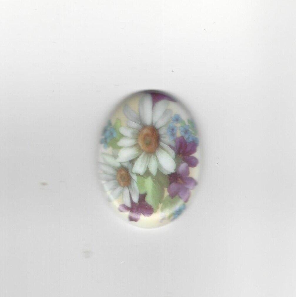 как выглядит 1 40x30mm Porcelain Cameo w/ Beautiful Daisies фото