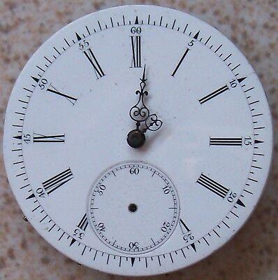 Old Pocket watch movement & dial Key wind 39 mm. in diameter
