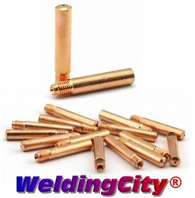 Weldingcity 25-pk Mig Welding Gun Contact Tip 14-35 For Tweco Lincoln 200-400a