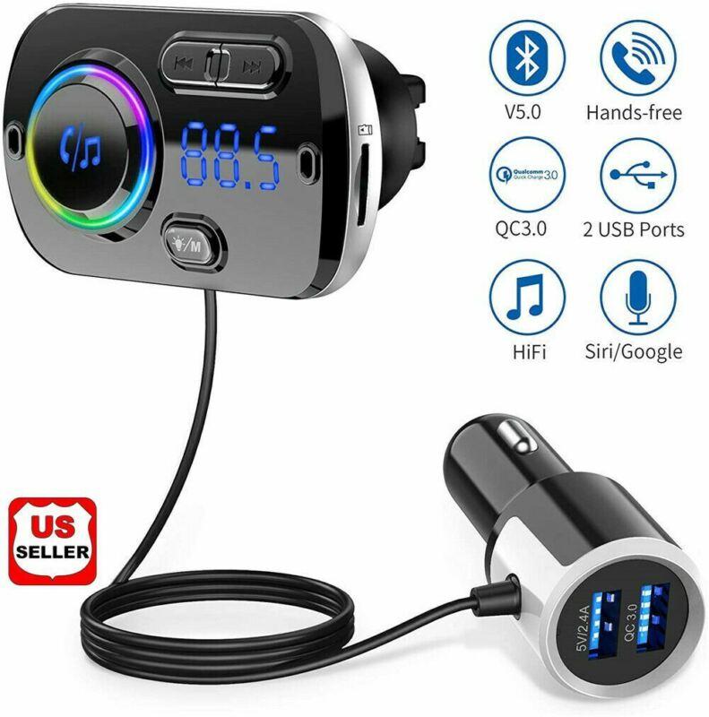 Handsfree Bluetooth FM Transmitter Wireless Radio Adapter Car Kit Mp3 Player USB