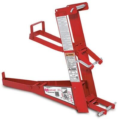 Red Steel Pump Jack Double Lock Portable Scaffolding Construction Foot Operated