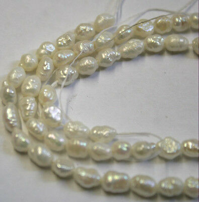 FRESHWATER PEARLS 16IN STRAND NATURAL GEMSTONES APPROX 4X6MM EACH PEARL NC