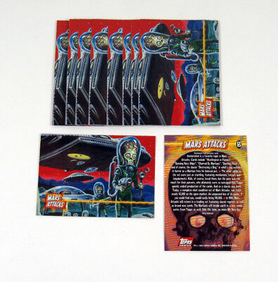 Lot of (10) 1994 Topps Archives Mars Attacks Archives Promo Card (B) Nm/Mt