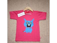 Monster Pink T-shirt / Age 5-6 Years (RRP £16.00) by Stardust - 100% Cotton - NEW WITH TAGS