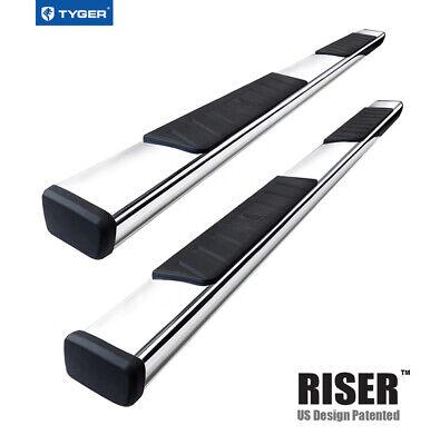 TYGER RISER For 09-18 Dodge Ram 1500 Quad Cab 4inch Stainless Steel Nerf