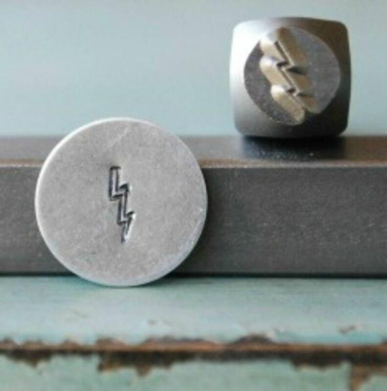 SUPPLY GUY 5mm Lightning Bolt Metal Punch Design Stamp SGCH-62