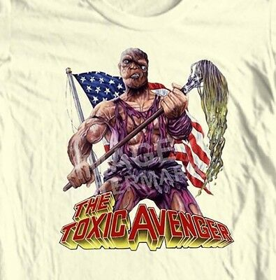 The Toxic Avenger T-shirt 80's horror movie Tromaville 100% cotton graphic tee (Horror Tee T-shirt)