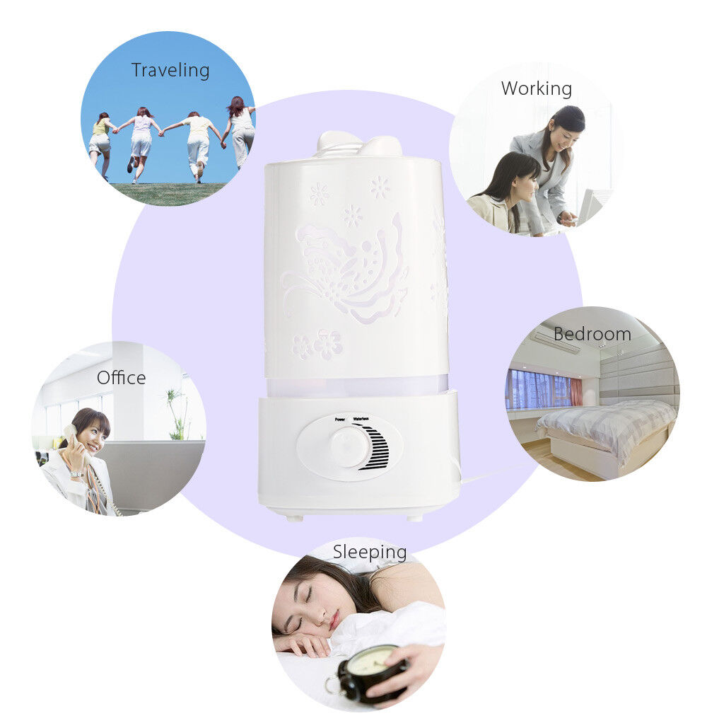 Humidifier Aroma Oil Diffuser 1500ML Air Purifier Ioniser LED Light Lamp 5 in 1
