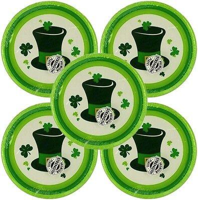 St Patricks Day Desserts (St. Patricks Day Hat & Clover Leaf Paper Dessert Plates - 8, 16, 24, or 40)