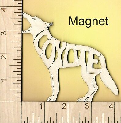 Coyote laser cut wood Magnet or Ornament