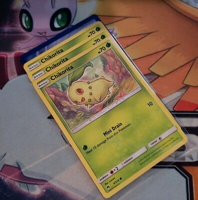 NM-M 2x Chikorita 5//214 Common Pokemon TCG Lost Thunder