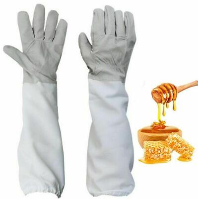 1 Pair Xl Beekeeping Protective Gloves Bee Keeping Vented Long Sleeves Outdoor
