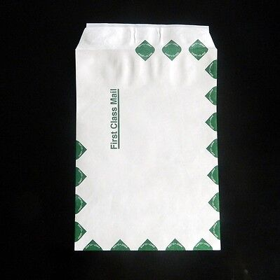 10 X 13 Tyvek Envelopes 500lot Green First Class Border 14 Lb Mailers