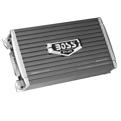 Boss Armor AR3000D 3000 Watt Monoblock Class D Car Power Amplifier with Remote
