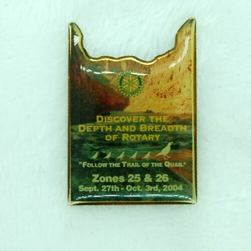 Rotary International 2004 Follow The Trail Of The Quail Lapel Hat Pin