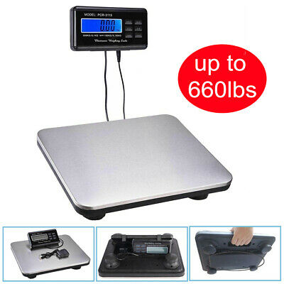 660lb X 0.1lb Digital Floor Platform Postal Scale Shipping Weight 300kg 10582oz