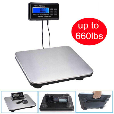 660lb X 0.1lb Digital Floor Platform Postal Scale Shipping Weight 300kg 10582oz