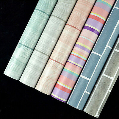 10M Waterproof Pvc Self Adhesive Wallpaper Kitchen Vinyl Desktop Wall Paper Roll