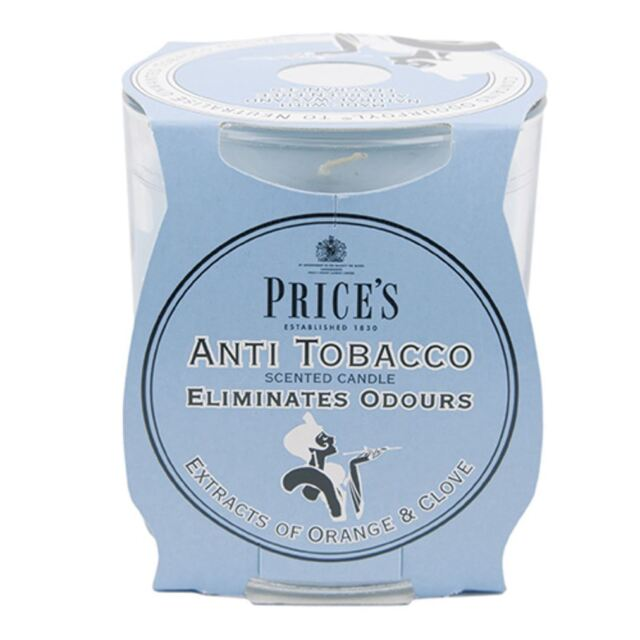 Prices Anti Tobacco Candle In Jar Eliminates Tobacco & Smoking Odours Smells