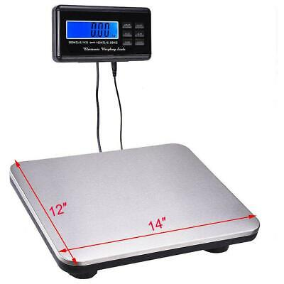660lbs0.1 300kg Digital Floor Platform Postal Scale Shipping Weight Heavy Duty