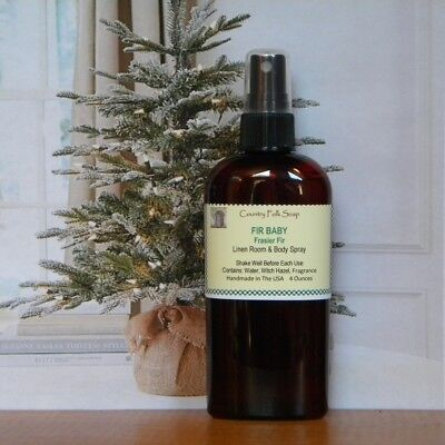 FIR BABY Christmas Tree Scent Home Room Linen Spray All Natural Chemical Free ()