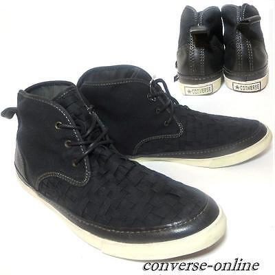 Men's CONVERSE All Star JOHN VARVATOS Skid Grip Black Shoes Trainers SIZE UK 9