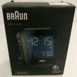 New BRAUN BNC009BK-RC Digital Quartz Alarm Clock
