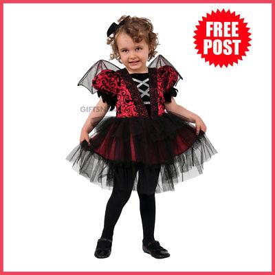 Little Girl Bat Costume (Girls Little Bat Costume Child Halloween Tutu Dress + Mini Hat + Wings Toddler)