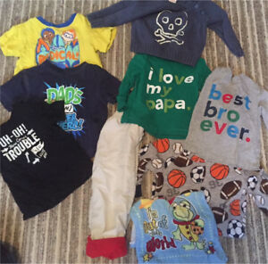 Boys Toddler 18 months Clothes Lot 9 pieces