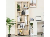 8 Tier Free Standing Bookstand With Anti Tipping Foot Pads