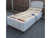 3ft Single Adjustable Electric Bed with Headboard